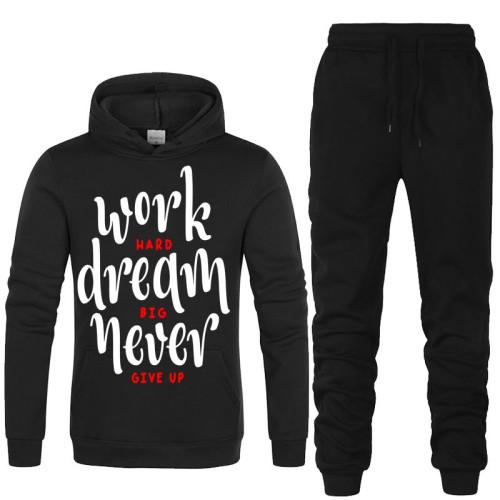 Work Dream Black Winter TrackSuit For Mens
