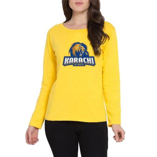 Karachi Kings Yellow Full Sleeves T-Shirt