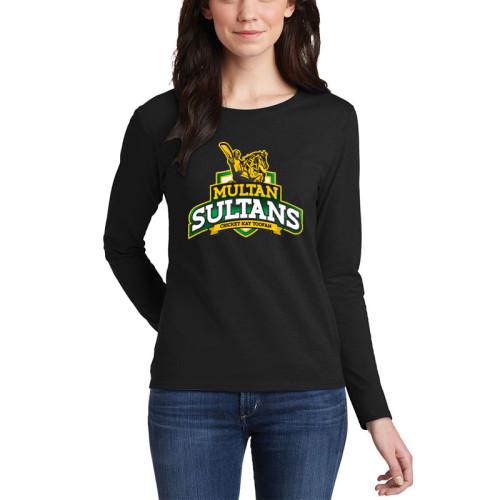 Multan Sultan Black Full Sleeves T-Shirt For Women