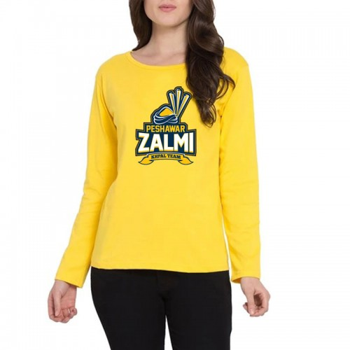 Peshawar Zalmi Full Sleeves T-Shirt in Yellow