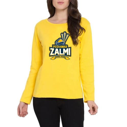 Peshawar Zalmi Full Sleeves T-Shirt in Yellow
