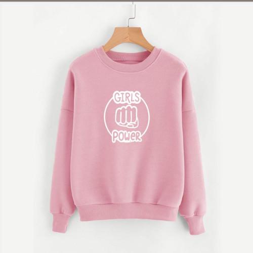 Girls Power Pink Fleece Sweatshirt
