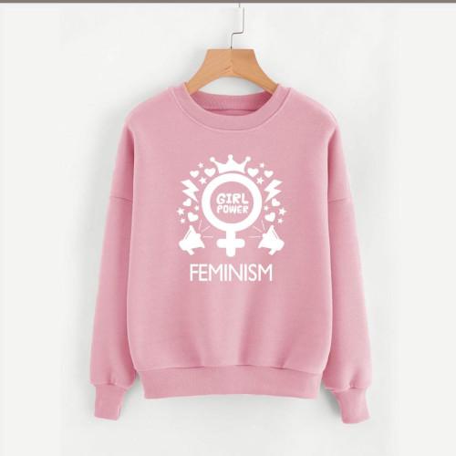 Feminism Pink Fleece Sweatshirt