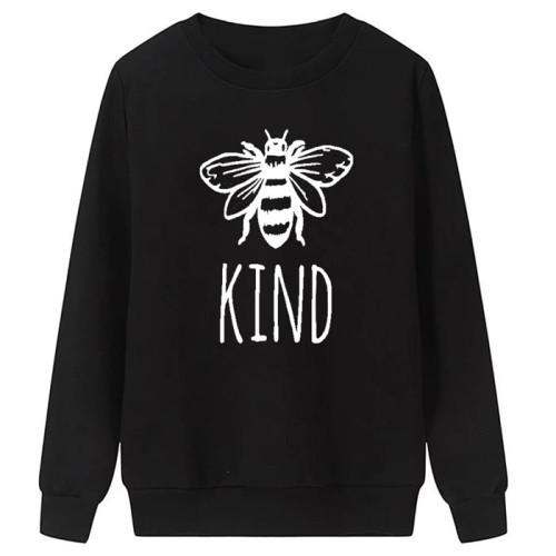 Honey Bee logo Black Pullover Sweatshirt's