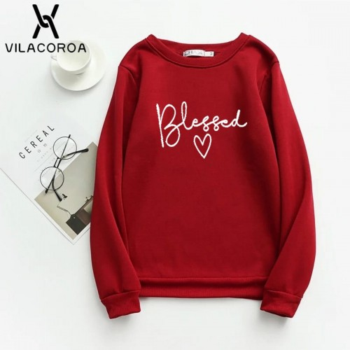 Blessed Red Winter Sweatshirt