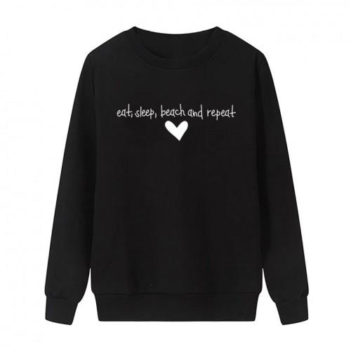 Eat Sleep Black Fleece Sweatshirt