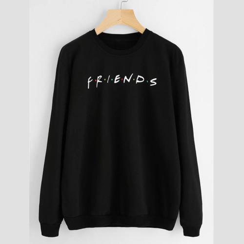 Friends Black Fleece Sweatshirt For Ladies