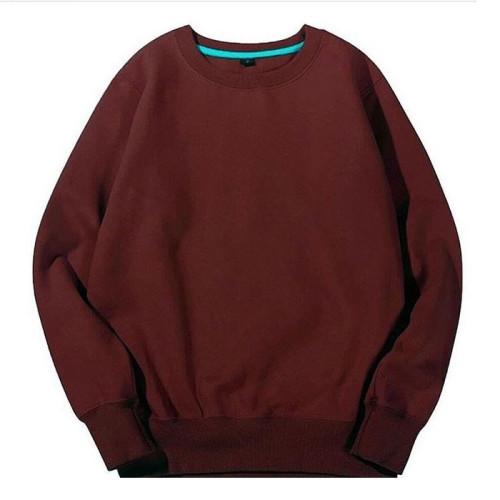 Plain Maroon Pullover Sweatshirt (Unisex)