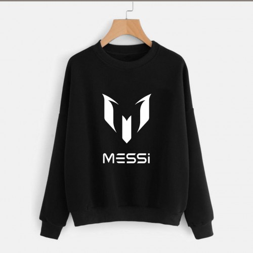 Messi Black Pullover Sweatshirt