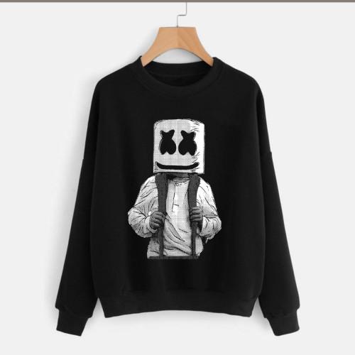 Marshmellow Black Pullover Good Quality Sweatshirt
