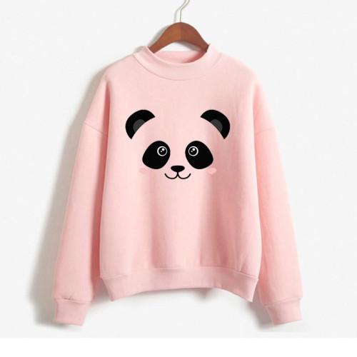 Pink Panda High-Quality Fleece Sweatshirts