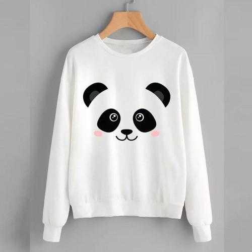 Panda White Good Quality Sweatshirt For Women