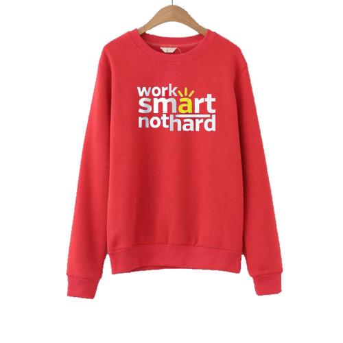 Work Smart Not hard Red Sweatshirt
