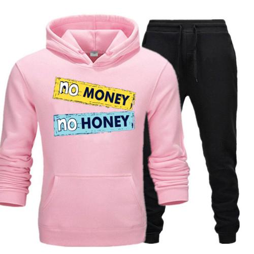 No Money No Honey Pink Tracksuit For Women