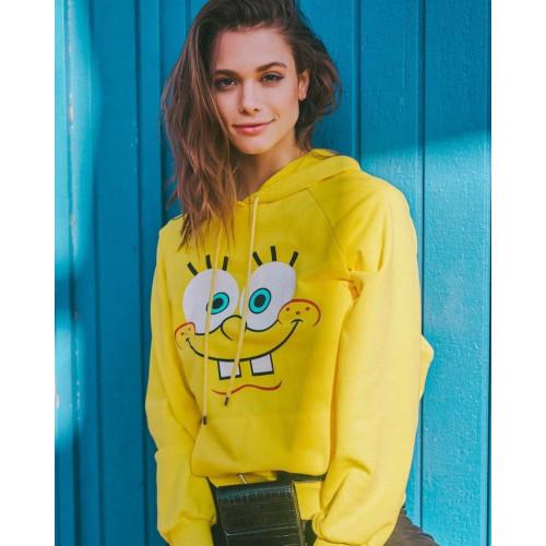 Spongebob Yellow Pullover Hoodie