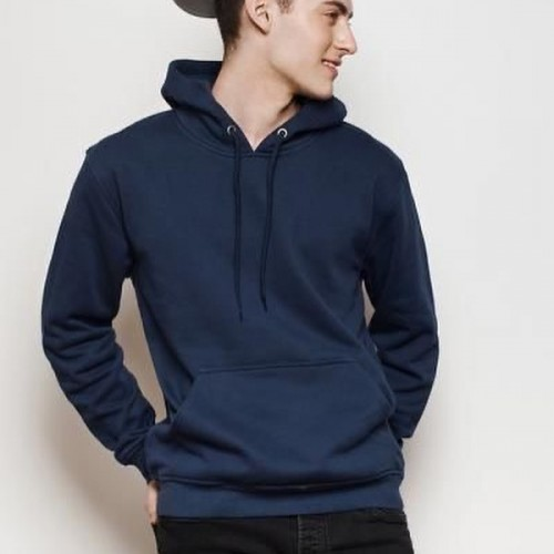 Navy Blue Plain Hoodie For Boys