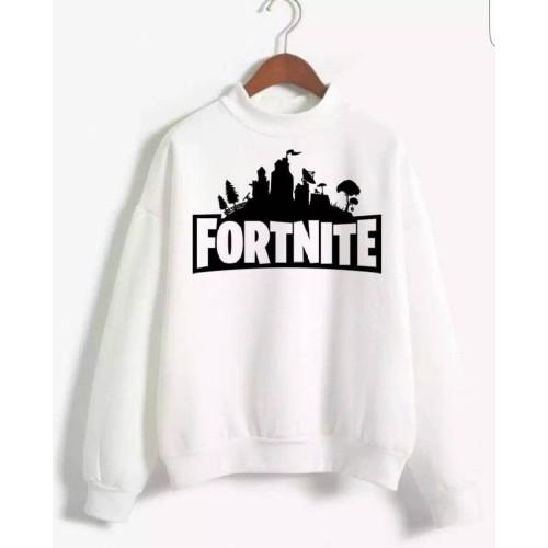 Fortnite White Pullover Sweatshirt For Women