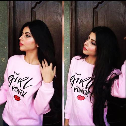 Girls Power Pink Pullover Sweatshirt