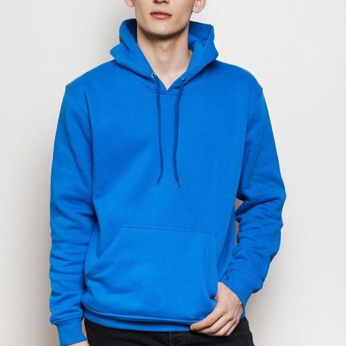Blue Plain Hoodie For Boys