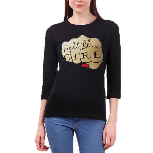Fight Like a Girl Black T-Shirt