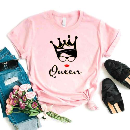Queen Logo Pink Half Sleeves T-Shirt