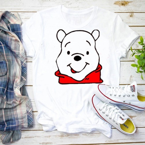 Honey White Half Sleeves Printed T-Shirt