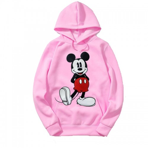 Mickey Mouse Pink Hoodies For Ladies