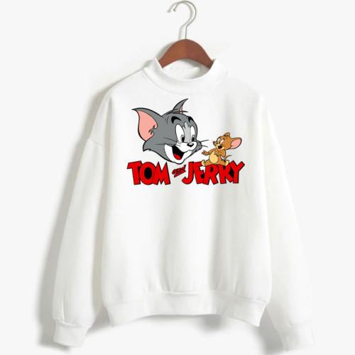 Tom & Jerry White Fleece Sweatshirt