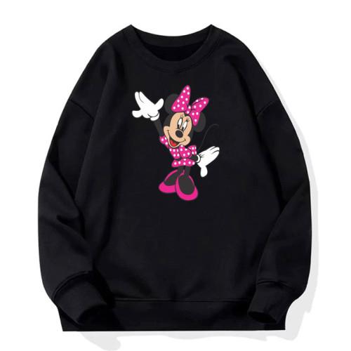 Mickey Mouse Logo Black Fleece Sweatshirt