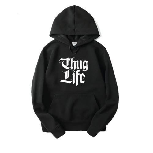 Thug Life Black Hoodie For Ladies