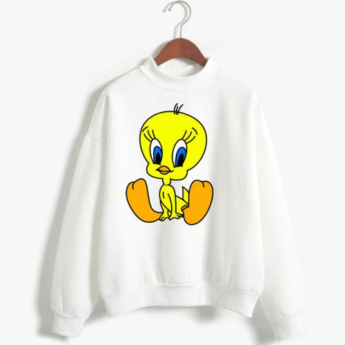 Twiti White Fleece Sweatshirt For Girls